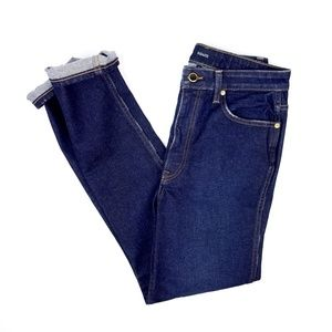 Khaite Vanessa High Rise Straight Jeans in Detroit